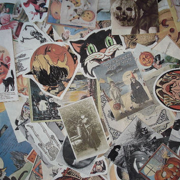 25 Vintage Halloween Ephemera Pieces