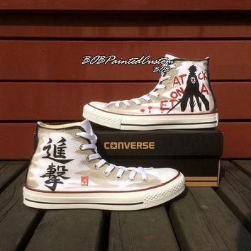 birthday gifts for anime lover white high top converse hand painted anime sneaker men