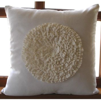 Vintage Bloom Throw Pillow Covers 16x16 Inches by TheHomeCentric