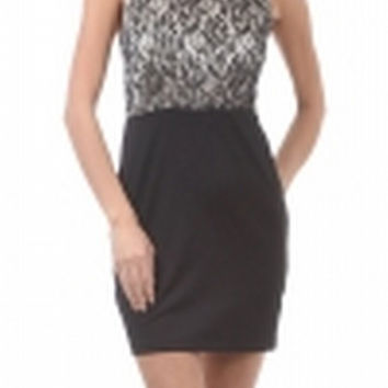 Lace Fitted Dress by THML 2081