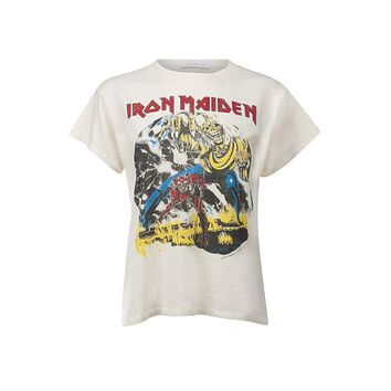 White Iron Maiden Number of The Beast Tour Band Shirt by Daydreamer LA