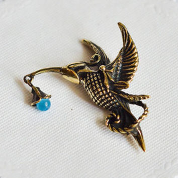 Original hummingbird totem necklace Brass humming bird pendant Boho style jewelry Glass bead jewelry Romantic bird necklace Bronze pendant