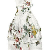 Vivienne Westwood Gold Label | Fiona tiered organza rose-print dress | NET-A-PORTER.COM