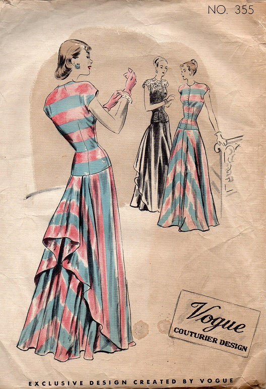 Vintage 1940s Vogue 355 Sewing Pattern From Adele Bee Ann