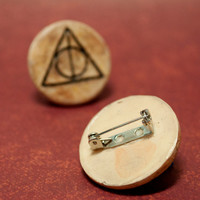 The Deathly Hallows Pinback Button, Harry Potter Pin Button, Hogwarts Pinback Button, Harry Potter Pin, Harry Potter and the Deathly Hallows