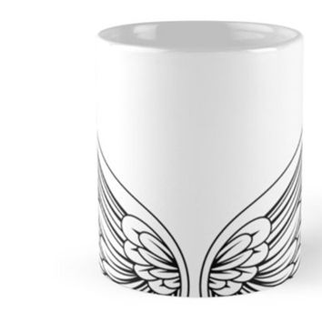 Angel Wing Coffee Mug Tattoo Mug Coffee Cup Customizable