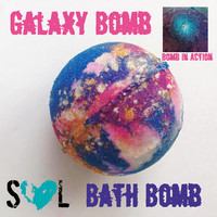 Galaxy Bomb Bath Bomb, Galaxy Bath Bomb, Jumbo Bath Bomb, Colorful Bath Bomb, Sparkling Bath Bomb, Shimmering Bath Bomb