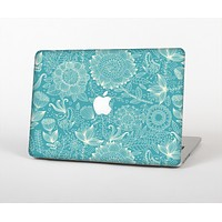 The Intricate Teal Floral Pattern Skin for the Apple MacBook Air 13""