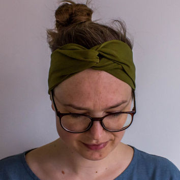 Turban Headband - Jersey Hairband - Head Wrap - Twisted Turban - Workout Headwrap -  Wide Headband