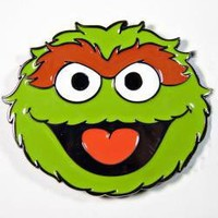 ROCKWORLDEAST - Sesame Street, Belt Buckle, Oscar The Grouch