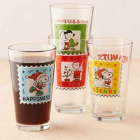 Peanuts Christmas Pint Glass Set