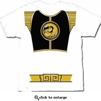 Power Rangers White Ranger Costume Adult T-shirt  - Power Rangers - Free Shipping on orders over $60 | TV Store Online