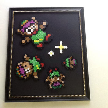 Legend of Zelda Falling Link Wall Frame