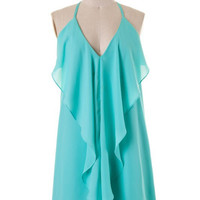 Fire and Ice Dress - Aqua