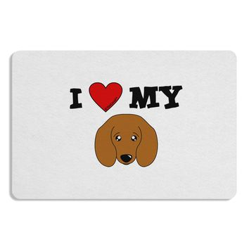 I Heart My - Cute Doxie Dachshund Dog Placemat by TooLoud