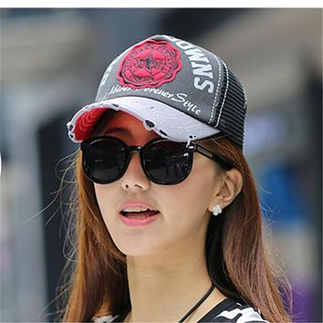 Hat female summer outdoor sun-shading cap baseball cap mesh cap female casual summer hat sun Trucker hat