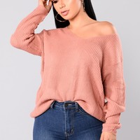 Heat Of The Night Sweater - Pink