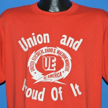 80s Union And Proud Of It UE t-shirt Extra Large