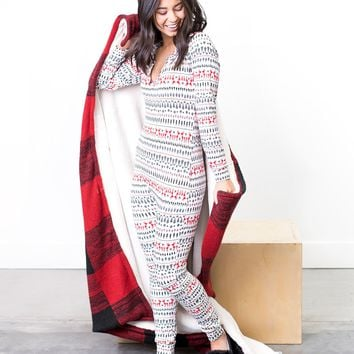 Noelle Holiday Jumpsuit Pajamas