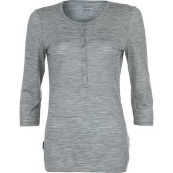 Icebreaker Tech Lite Henley - 3/4-Sleeve - Women's Metro Heather,