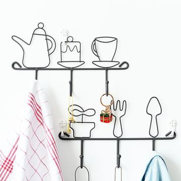 Cute Design Kitchen Wall Holder Rack