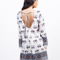 Elephant Bell Sleeve Dress