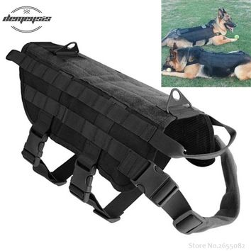Tactical Outdoor Military Hunting Dog Clothes Load Bearing Training Vest Harness 5 Sizes XS-XL for Small Dogs Big Dogs