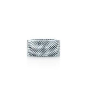 Tiffany Somerset ring in sterling silver.