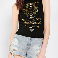 Truly Madly Deeply Hieroglyph Foiled Muscle Tee  - Urban Outfitters
