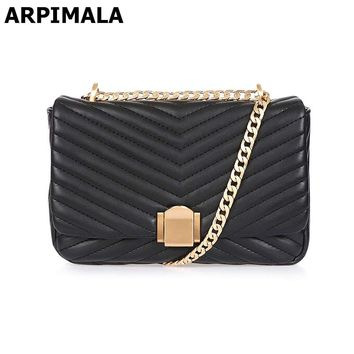 ARPIMALA Luxury Designer Women Handbags Quilted Leather Evening Bags Chain Cross Body Bag Women Messenger Bags Party Flap Clutch