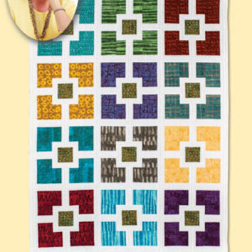 Lap Size Quilt Pattern, Hole in the Wall, Eleanor Burns Signature Patterns, Wall Hanging Pattern