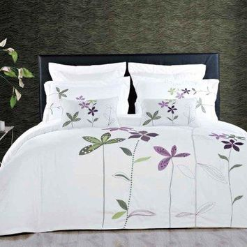 5 Piece Embroidered Duvet Cover Set