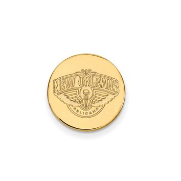 NBA New Orleans Pelicans Lapel Pin in 14k Yellow Gold