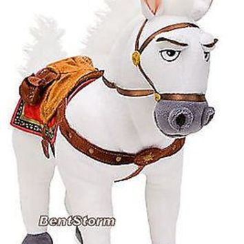 "Licensed cool NEW Disney Store Tangled 14""  Flynn Rider MAXIMUS HORSE Plush Toy Stuffed Doll"