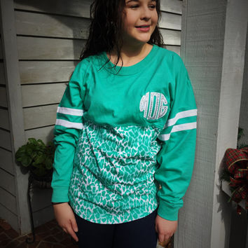 Monogram Spirit Jersey Glitter Applique