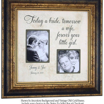 TODAY A BRIDE, Parents Wedding Gift, Personalized Picture Frame, Personalized Wedding Frame, 16 X 16