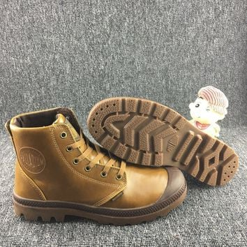 Palladium Pampa Hi Vl Boots Brown For Women & Men - Beauty Ticks