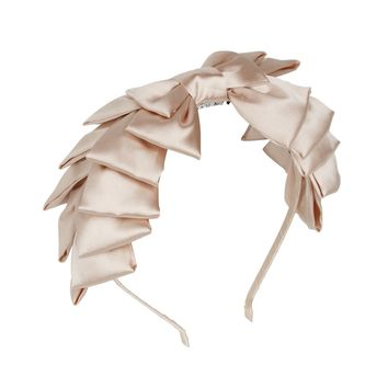 Project 6 NY Champagne Pleated Ribbon Headband