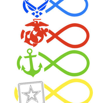 Military Infinity Decal