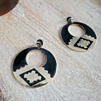 Vintage 1990s Bold Southwestern + Statement Earrings