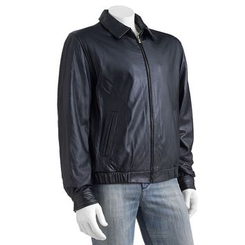 Chaps Leather Bomber Jacket - Big & Tall, Size: