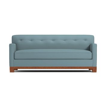 Harrison Ave Queen Size Sleeper Sofa :: Leg Finish: Pecan / Sleeper Option: Memory Foam Mattress