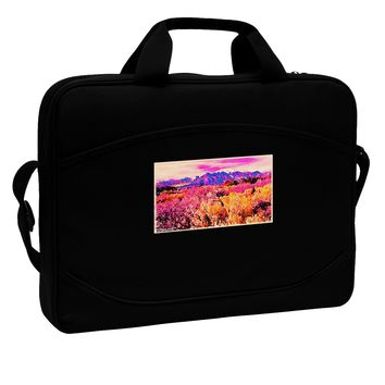 "Colorful Colorado Mountains 15"" Dark Laptop / Tablet Case Bag by TooLoud"