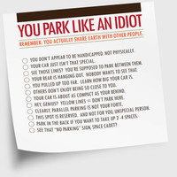 Funny Sticky Notes 50 Sheets You Park Like An Idiot by NeatThings