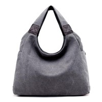 Women's Handbags Canvas Vintage Shoulder Bag Ladies Canvas Tote Bags High Quality Hobo Messenger Bags