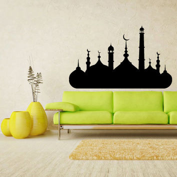 Wall Vinyl Sticker Decals Decor Art Bedroom Design Mural Wall Decal Arab Persian Islam Skyline mosque palace castle (z2169)