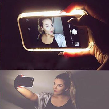 LED Light Selfie Phone Case for Apple iphone 6