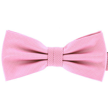 Tok Tok Designs Formal Dog Bow Tie - BK400 (For Small Dogs, Pink Color)