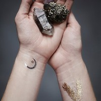 Free People Womens Wanderlust Metallic Tattoo Pack