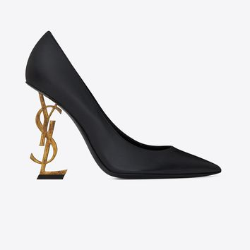 YSL Gold Tone Pump Heels by Saint Laurent